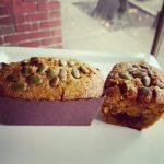 Pumpkin Pecan Cake with Chocolate Center
